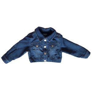 Girls Cropped Denim Jacket